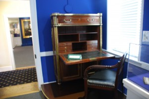 Front view of the James Monroe Desk.