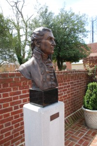 Side view of the bust of James Monroe